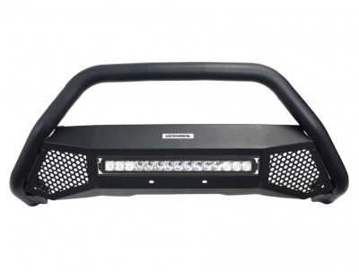 Go Rhino - RC4 LR Skid Plate Negro Texturizado + Luz Led Toyota Tacoma 16-21 (Defensa+Brackets+Luz) - Image 2