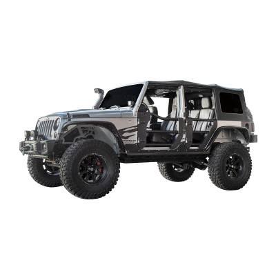 Go Rhino - Puerta Tubular Delantera Go Rhino Jeep Wrangler JK 07-18 - Image 3