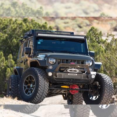 "Go Rhino - Marco de luz en parabrisas WLF para barra 50"" Jeep Wrangler JK 07-18 - Image 1"