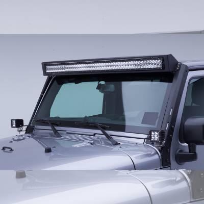 "Go Rhino - Marco de luz en parabrisas WLF para barra 50"" Jeep Wrangler JK 07-18 - Image 2"