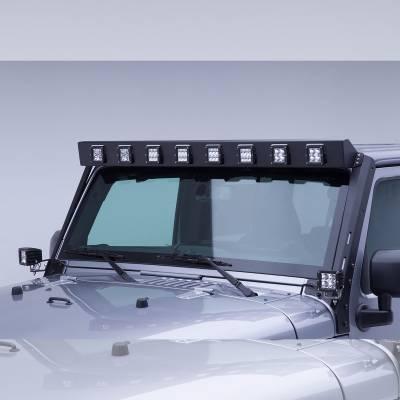 """Go Rhino - Marco de luz en parabrisa WLF 8 duallys 3"""" Jeep Wrangler JK 07-18 - Image 3"""