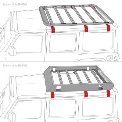 Go Rhino - Kit de Montaje SRM 6 Brackets (Vierte Aguas) - Image 4