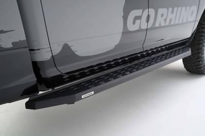 """Go Rhino - Estribos RB20 80"""" Chevrolet Silverado 1500 14-17 y 2500HD/3500HD 15-17 (Negro Texturizado) - Image 2"""